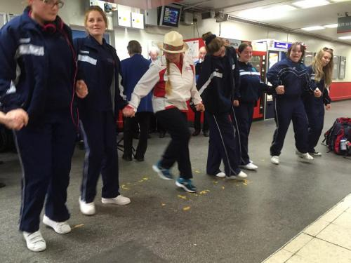 2015 - On the platform to celebrate with the Special Olympics team from Cheshire Academy